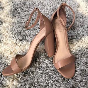 ALDO Taupe Heeled Sandals